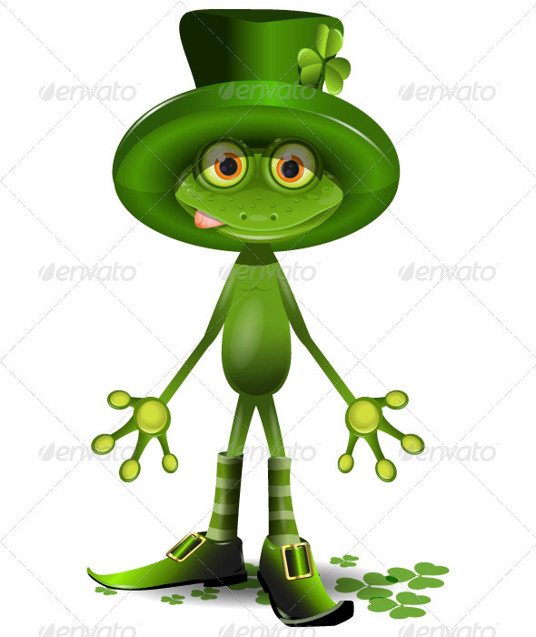 GraphicRiver frog and the St Patrick s Day 3770821