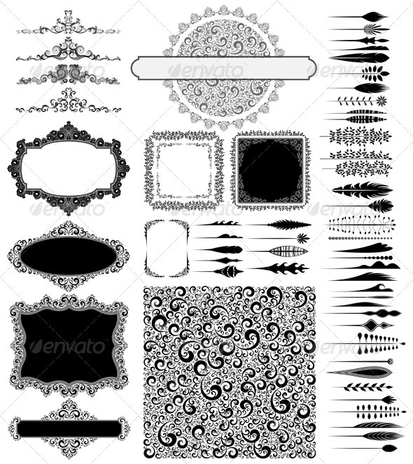 GraphicRiver Design elements collection 3771459