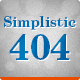 Simplistic 404 - ThemeForest Item for Sale