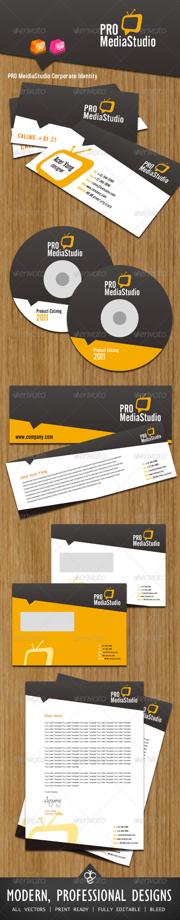 GraphicRiver PRO MeidiaStudio Corporate Identity 406107