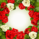 Download Vector Background with White and Red Roses