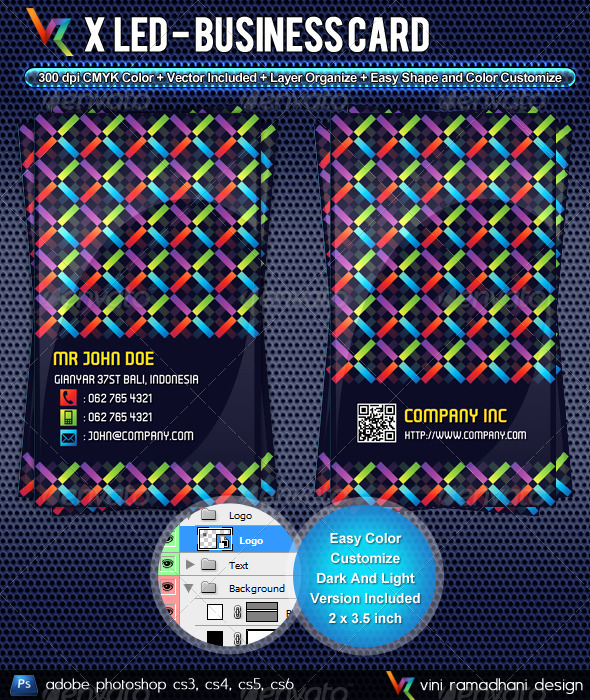 GraphicRiver X LED Business Card 3772129