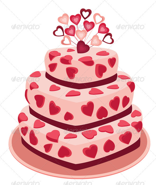 GraphicRiver Romantic Cake 3694304