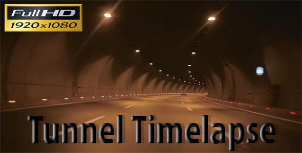 Tunnel Timelapse Full HD VideoHive Stock Footage  Time Lapse 3772193
