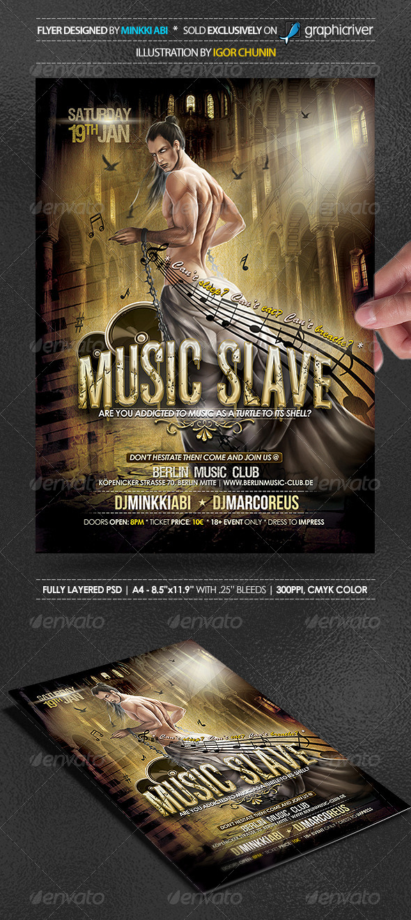 GraphicRiver Music Slave Poster Flyer 3772213