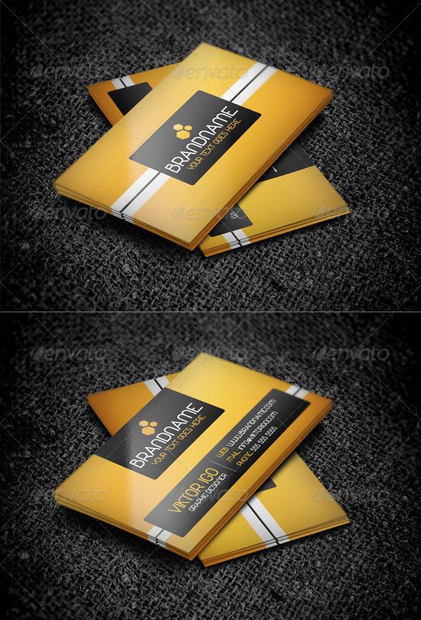 Modern Orange Business Card - Corporate Business Cards