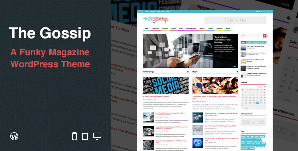 ThemeForest The Gossip Funky Magazine WordPress Theme 3716769