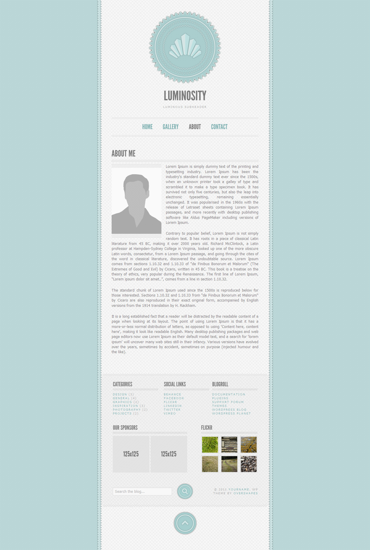Luminosity - WordPress Blog Theme