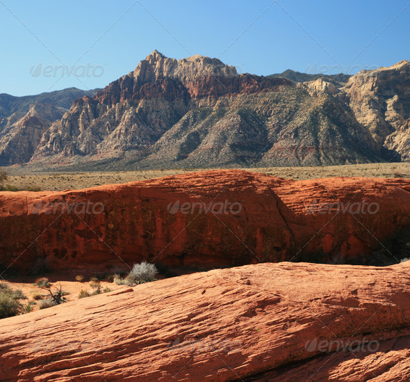 red rock mountain - Stock Photo - Images