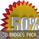 3D Badges Pack - GraphicRiver Item for Sale