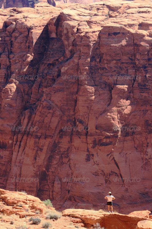Glen Canyon overlook - Stock Photo - Images