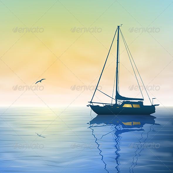 GraphicRiver Sailing Boat 3773022