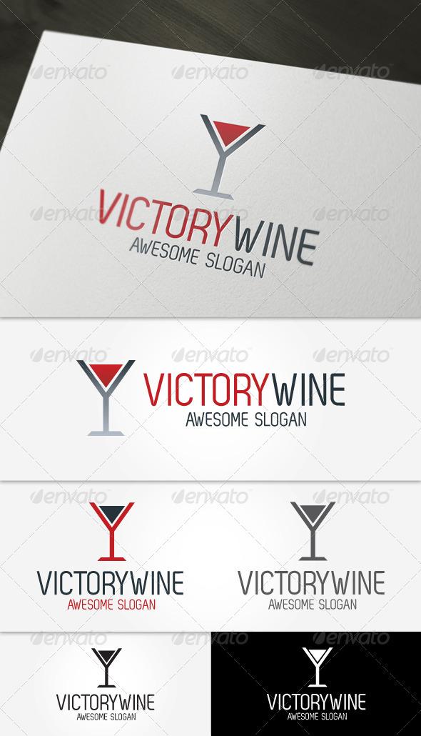 GraphicRiver Victory Wine Logo 3724333
