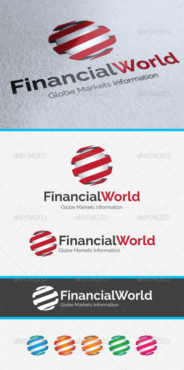 GraphicRiver Financial World Logo Template 3773029