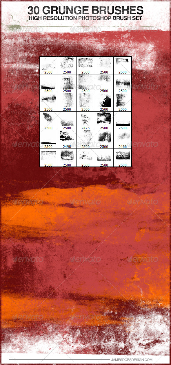 GraphicRiver 30 Grunge Photoshop Brushes 3709924