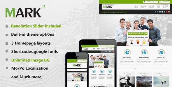 ThemeForest Mark2 Multi-Purpose WordPress Theme 3684622