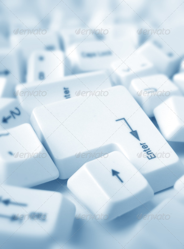 Computer keys	 - Stock Photo - Images