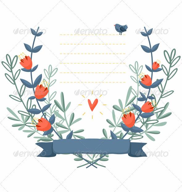 GraphicRiver Floral Frame 3774072