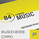 Retro Music Clup Business card - GraphicRiver Item for Sale