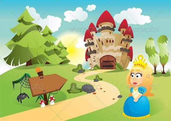 GraphicRiver The Princess and Her Kingdom 3692286