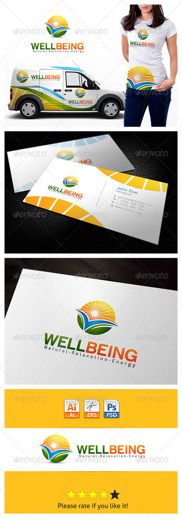 GraphicRiver Wellbeing Relaxation Logo 3774310