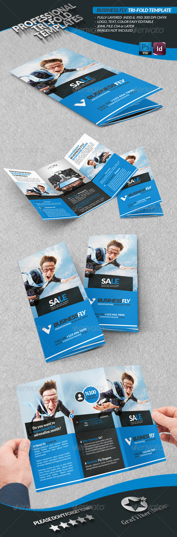 Sport Template Business Tri-Fold - Brochures Print Templates