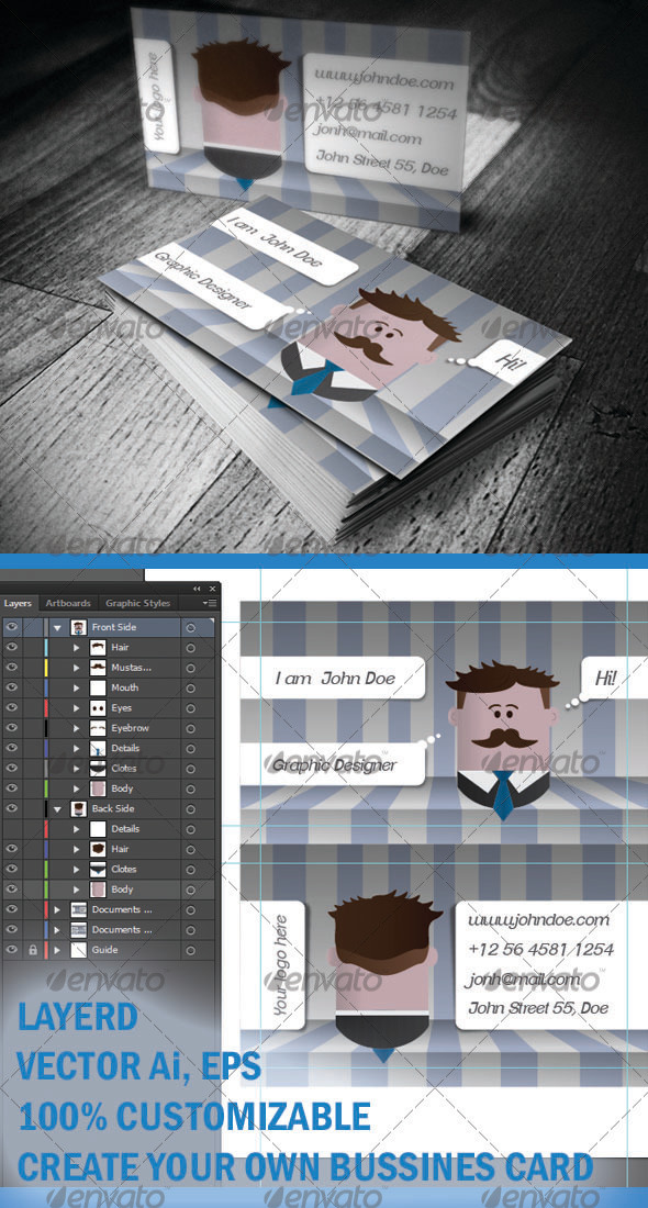 Character Business Card - Creative Business Cards