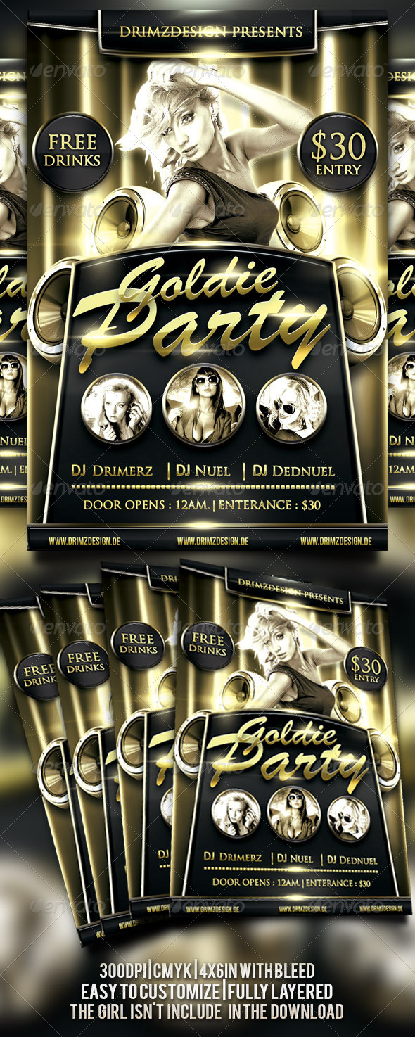 Goldie Flyer - Events Flyers