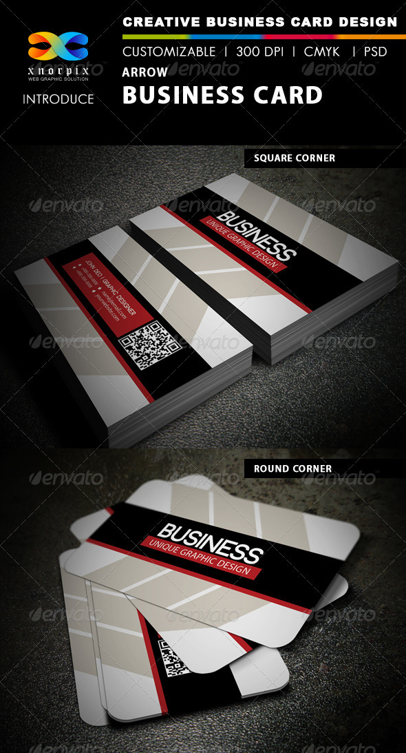 Arrow Business Card - Creative Business Cards
