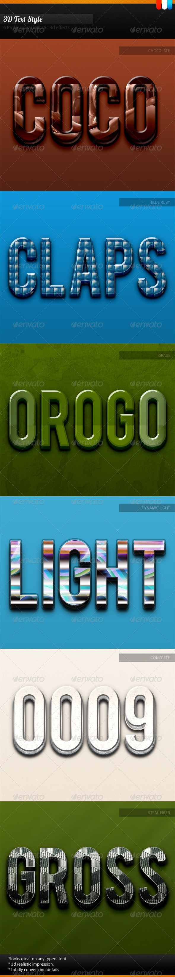 3D Unique Text Style - Text Effects Styles
