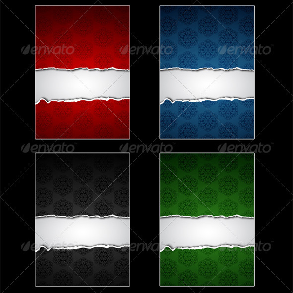 GraphicRiver Torn Papers Set 3774803