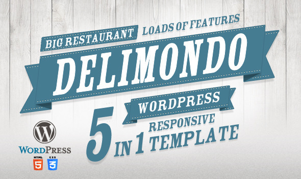 ThemeForest Delimondo Responsive Wordpress Theme 5 Styles 3762881