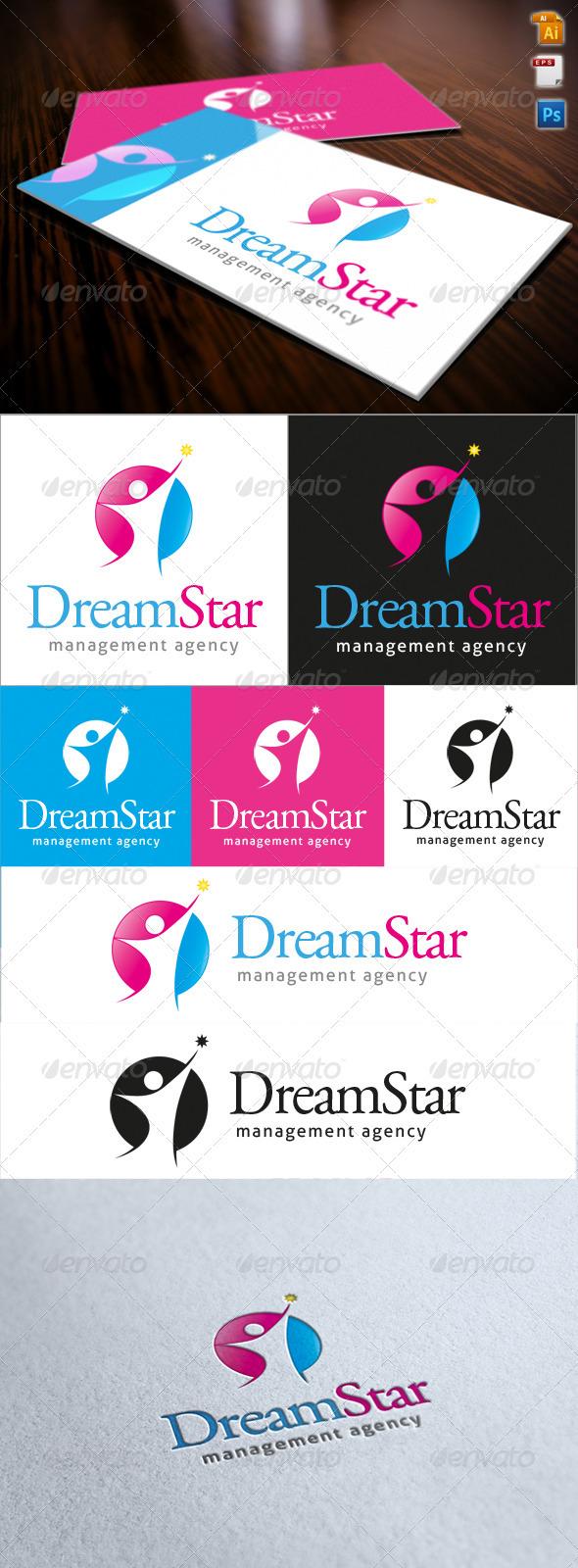 GraphicRiver Dream Star Logo 3720483