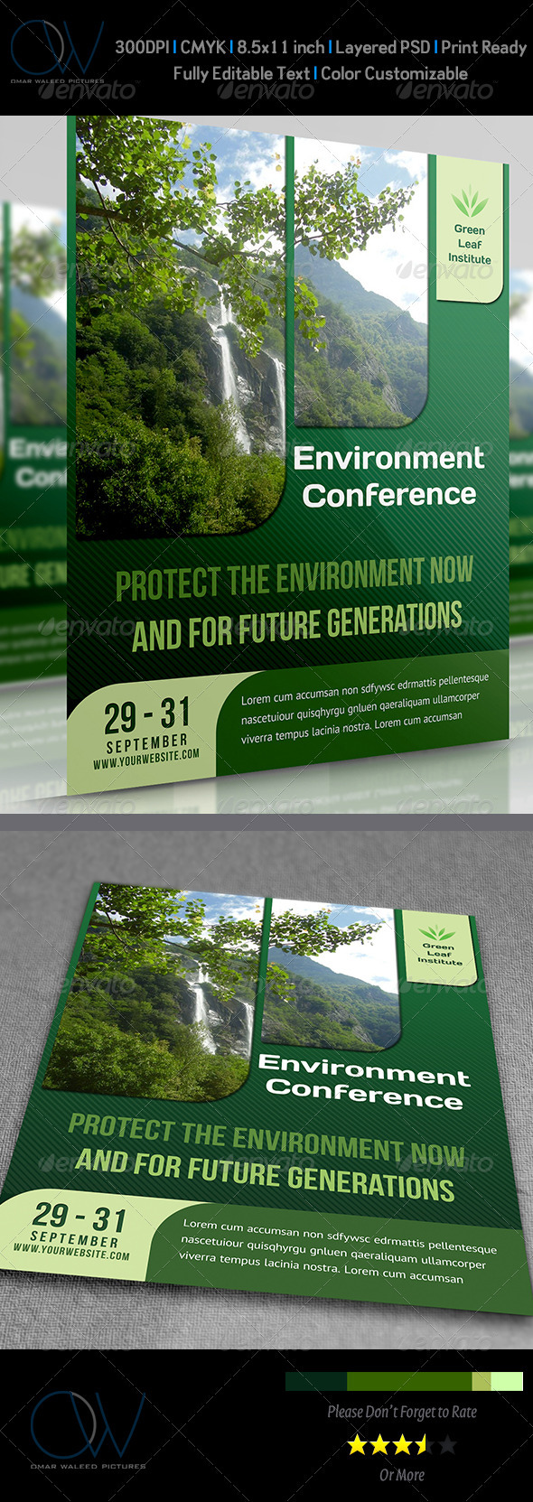GraphicRiver Environment Nature Flyer 3775082