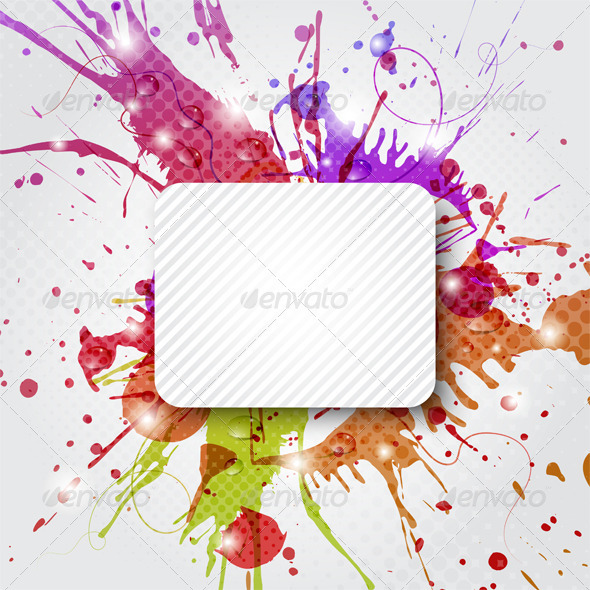 GraphicRiver Background Element with Color Splashes 3775590