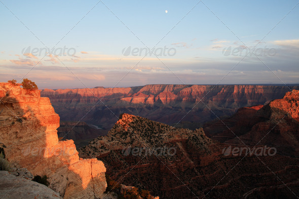 evening grand canyon - Stock Photo - Images