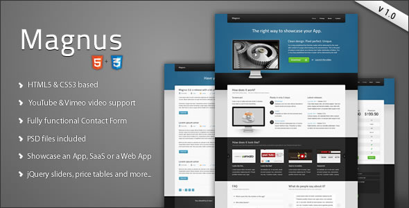 Magnus - Software HTML5 Site Template