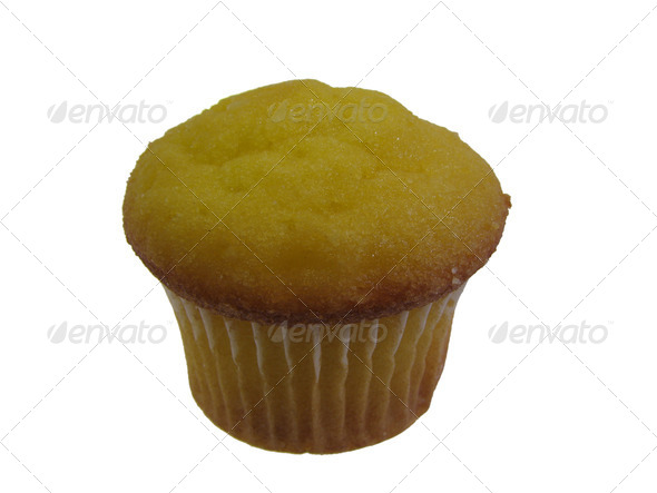 isolated lemon muffin - Stock Photo - Images