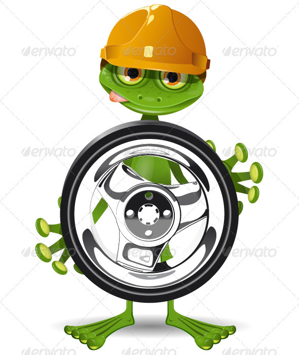 GraphicRiver Frog and Wheel 3776068