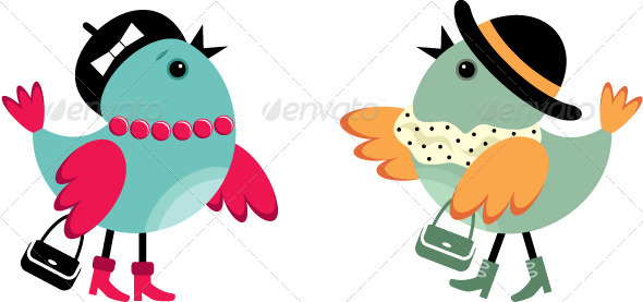 GraphicRiver Fashionable Birdies 3776095