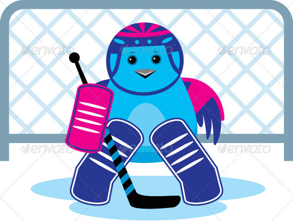 GraphicRiver Bird as Hockey Goalkeeper 3776228