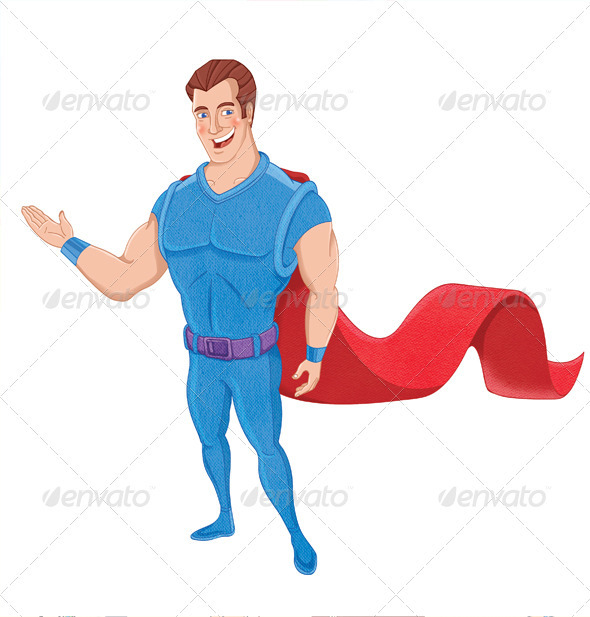 GraphicRiver Super Dude Character 3776229