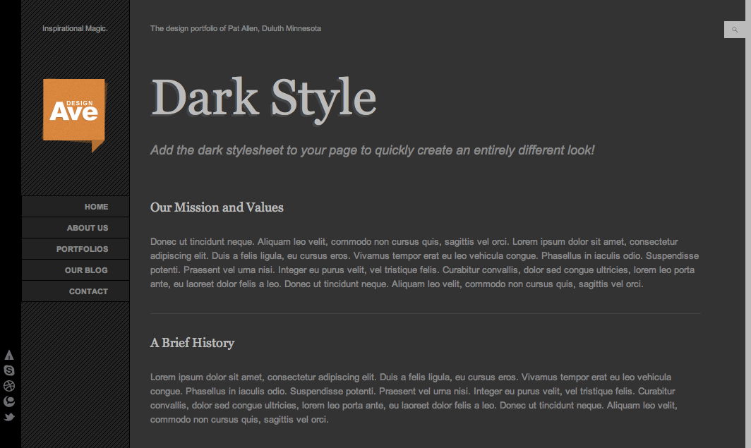 Design Avenue - HTML/CSS Template