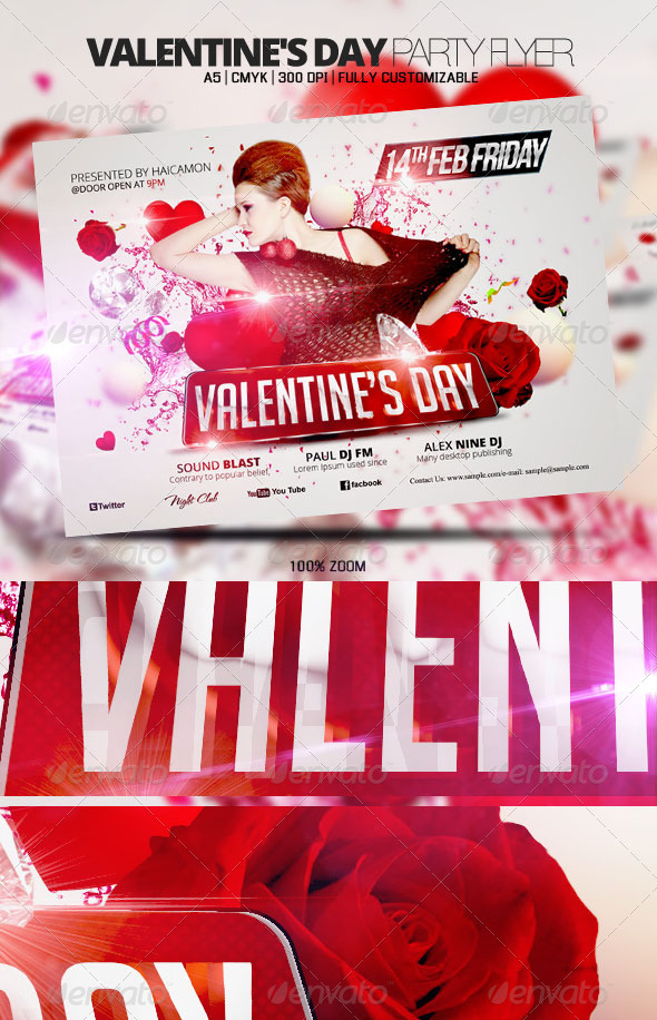 GraphicRiver Valentine s Day Party Flyer 3776306