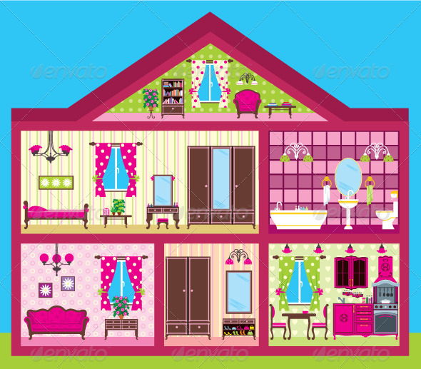 GraphicRiver Girl s House 3776371