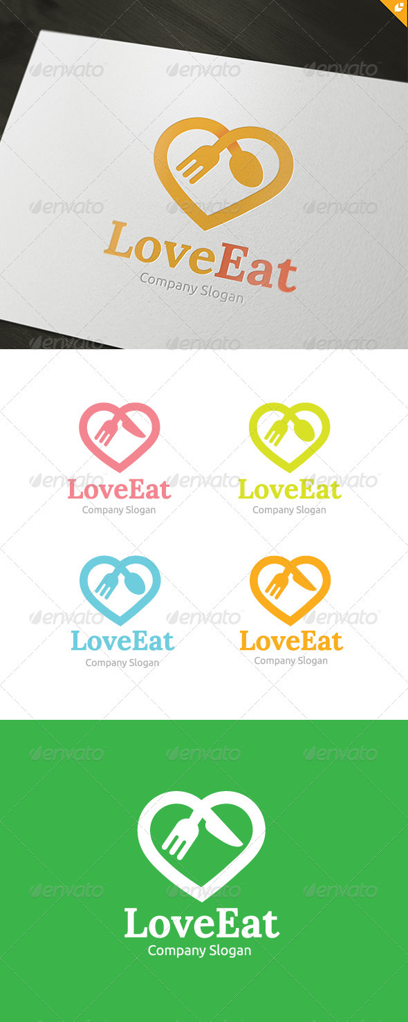 Love Food Logo - Food Logo Templates