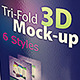 Tri-fold 3D Mock-up Pack - GraphicRiver Item for Sale