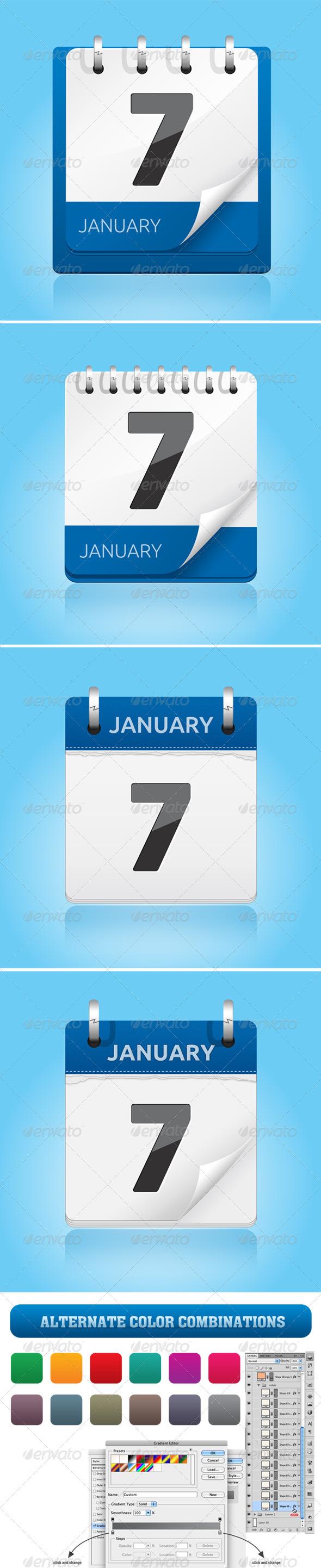 Calendar Icon - Media Icons