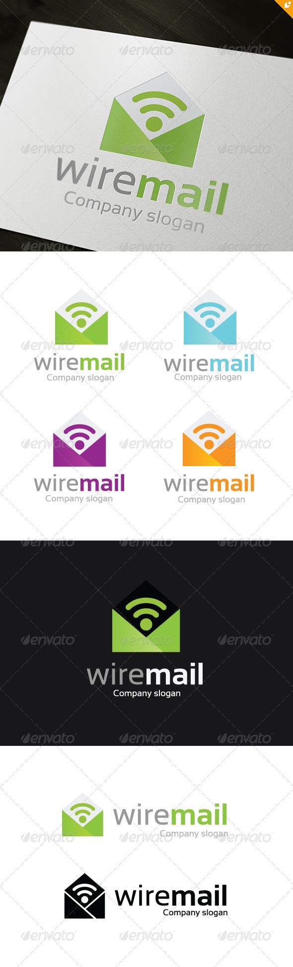 GraphicRiver Wire Mail Logo 3721890