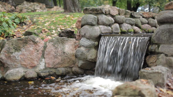 Cascade in the City Park VideoHive Stock Footage  Nature 3776946